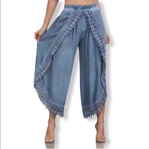 Pants - Blue Harem Boho Gypsy Turkish Yoga Pants